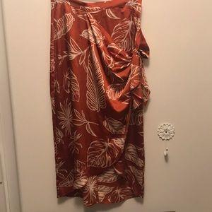 Ladies Skirt faux wrap dress